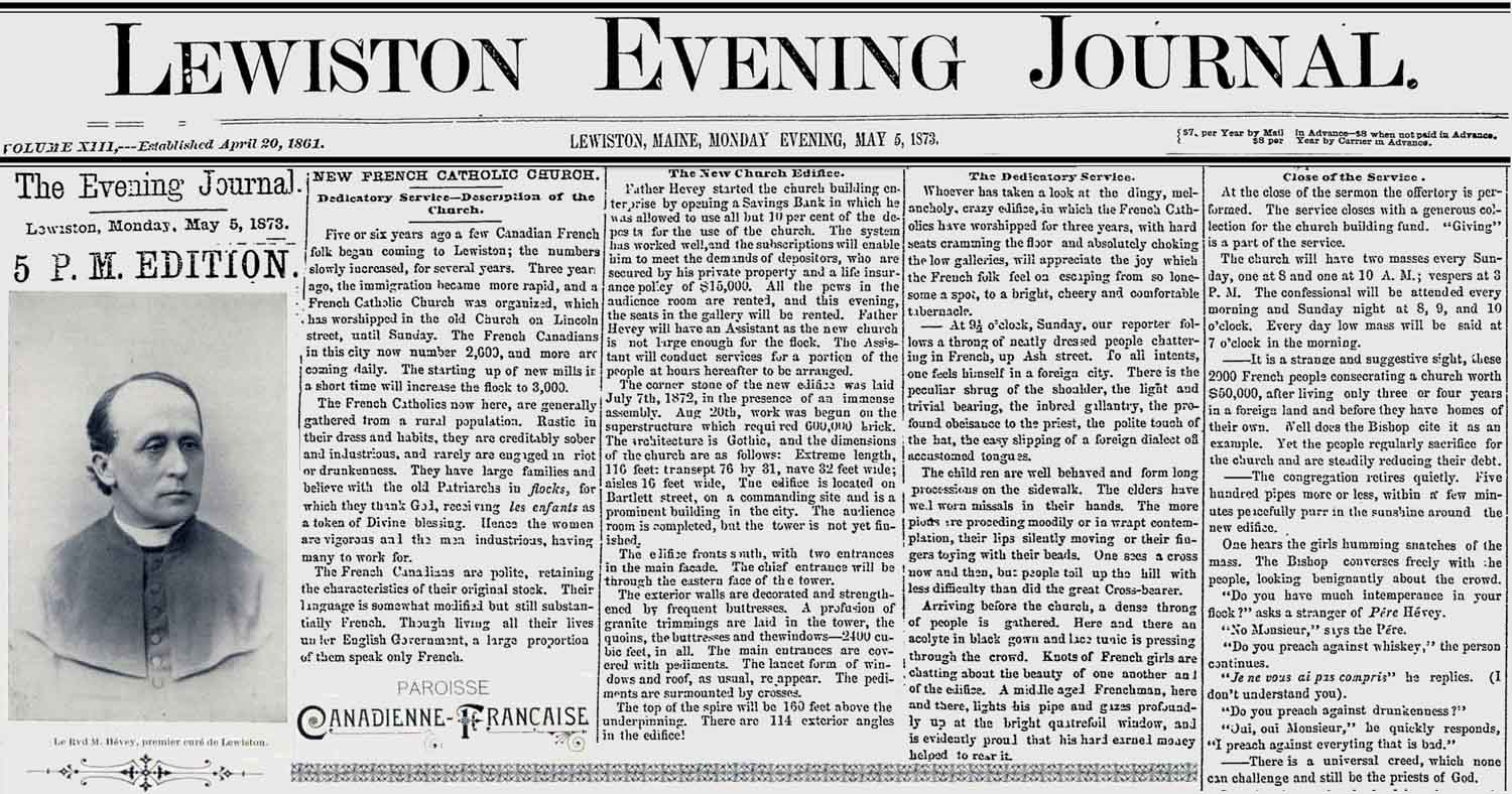 Image - Lewiston Evening Journal May 5, 1873