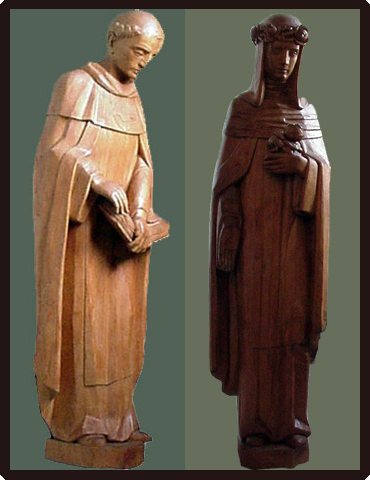 St. Joseph and the Virgin Mary Statues Restored