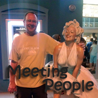 Larry Lachance meets Marilyn Monroe